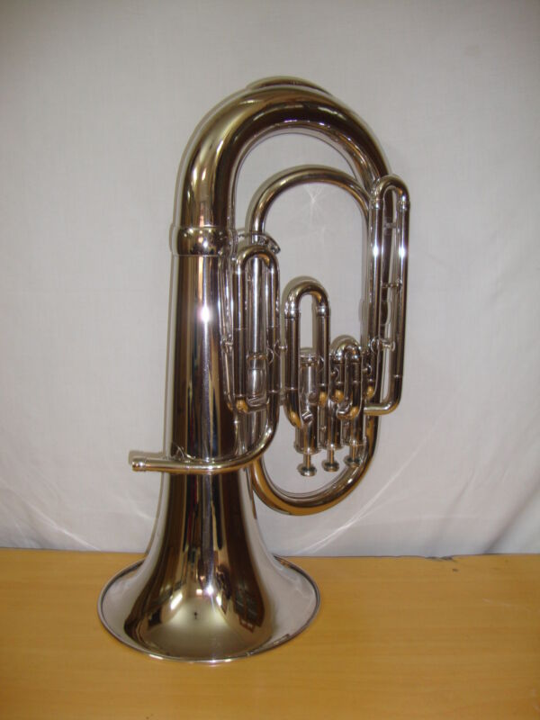 New SILVER Finish Bb Euphonium With Free Hard Case+MOUTHPIECE