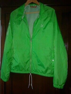 Men's Womens Puma Green Jacket Sports Running Walking  UK Medium