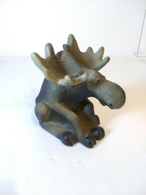 VTG 1998 Singing Tree Presents Wildlife Moose USA Statue Figurine Cabin Decour