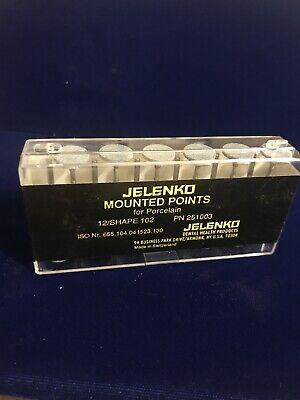 Jelenko Mounted Points For Porcelain One Dozen Shape 102