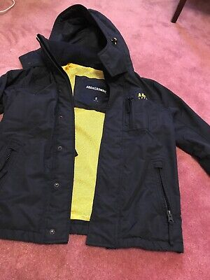 Abercrombie & Fitch Men's Hooded Jacket S Size Navy Color