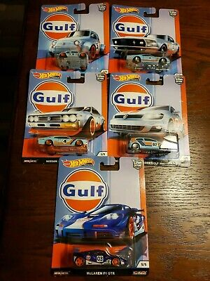 2019 HOT WHEELS PREMIUM CAR CULTURE GULF SERIES  FULL SET 5 (CAR'S)