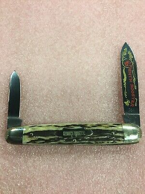 1994 Fight'n Rooster 2-Blade Stag Handle Cigar Knife