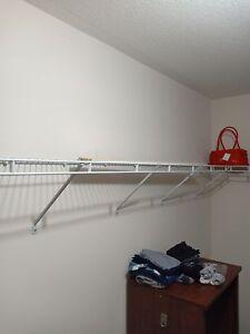 Closetmaid white wire shelving racks