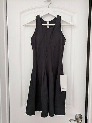 Lululemon Court Crush Dress Tennis Dress Size 6 Black BLK