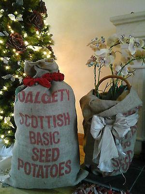 LARGE Hessian Sack~Agriculture Farming Rustic Jute Hessian Burlap Seed Bag~Craft