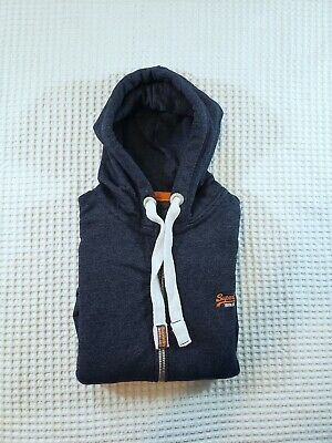 The Superdry Orange Label Full Zip Hoodie Hooded Sweater Sweatshirt Men's Medium