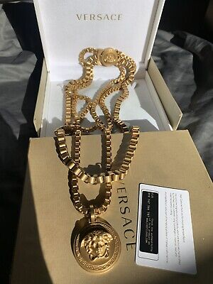 Limited Edition Versace Triple Chain - 24K Gold Plated Necklace
