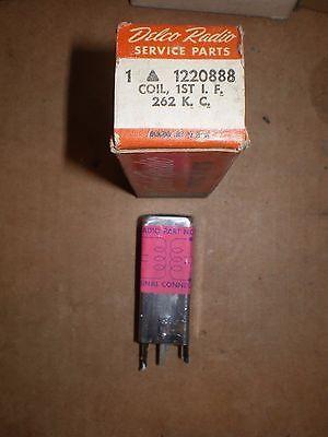 NOS DELCO RADIO 1220888 1st I.F COIL 262 K.C.