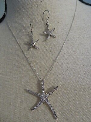 SWAROVSKI STARFISH PENDANT AND EARRINGS for sale  East Sandwich
