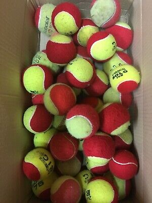 9 Used Tennis Balls - Decent Condition - All Red Pressureless Balls