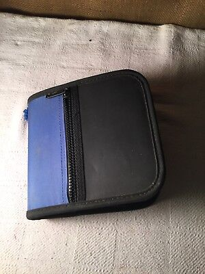 CD/DVD Zippered Case, Capacity 24, Sleeve, Black/blue - 24 Movies Included