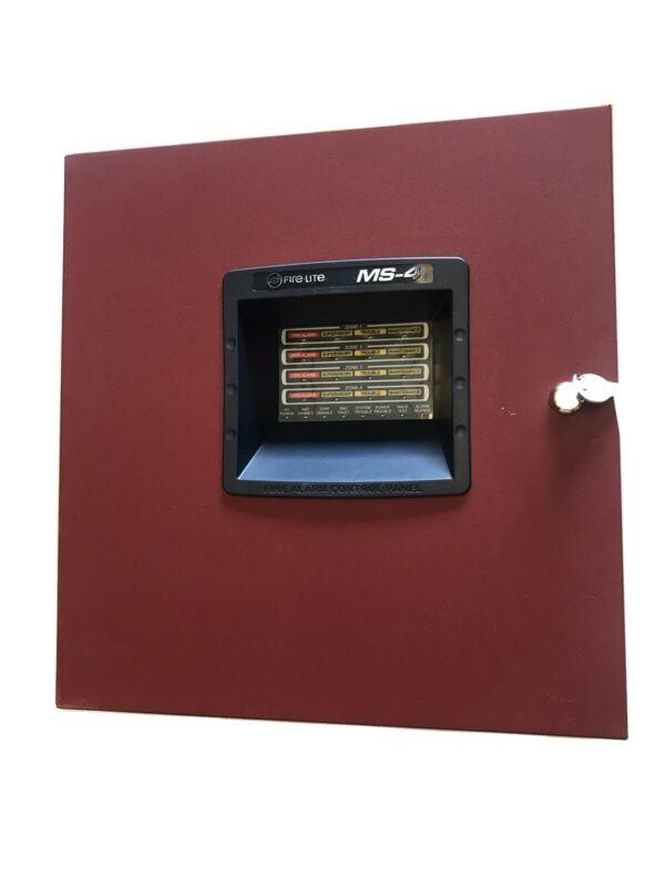 Fire-Lite 4-Zone Fire Alarm Control Panel MS-4  (601)