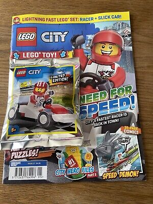 Lego City Magazine - Issue 27 June 2020with Racing Car+ Racer