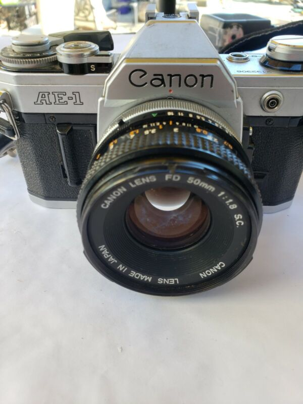 Canon AE-1 Program 35mm SLR Camera with 50mm FD/1.8 Lens