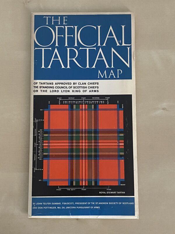 THE OFFICIAL TARTAN MAP Crown Pub. Inc, NY  1976 John Telfer Dunbar VINTAGE