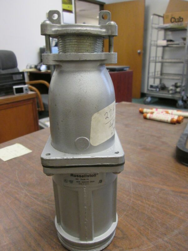 T/&B Russell Stoll 7428-78 B12337F 60A 600v 3W4P Receptacle Connector