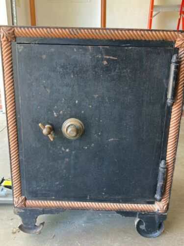 "Antique Floor safe 24 x 27 x 37"" Tall 1800s early 1900s"