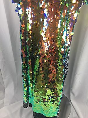 Sequins Fabric By The Yard Multi-Color Hologram Shiny For Dresses & Decorations