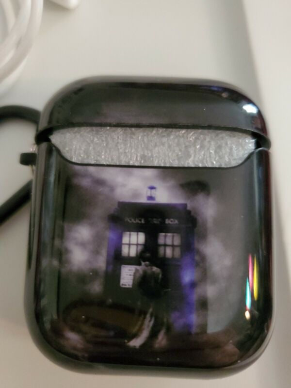 Airpod Dr Who Gen 1&2 Case Hard Plastic With Earbud Conector Stap And Clip