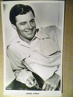 Vintage Real Photograph Postcard of James Craig- American actor (215)