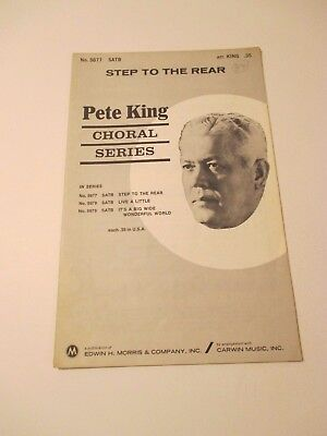 Vintage Step to the Rear Pete King Choral Series Songs Piano Sheet Music