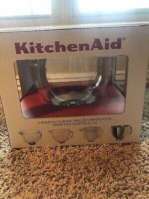 KitchenAid 5-Quart Glass Bowl Tilt-Head Stand Mixer Attachment-New