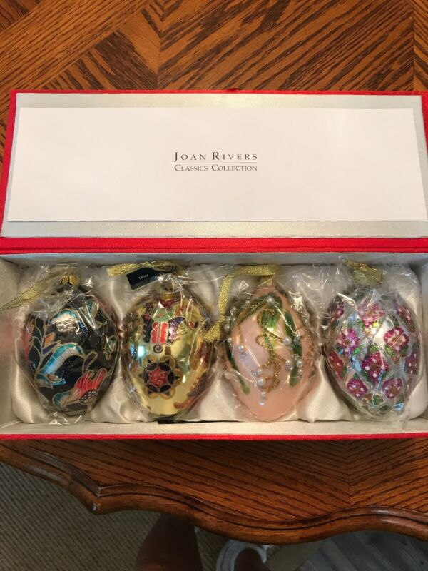 Joan Rivers Classic Collections 2009 Russian Inspired Egg Ornaments