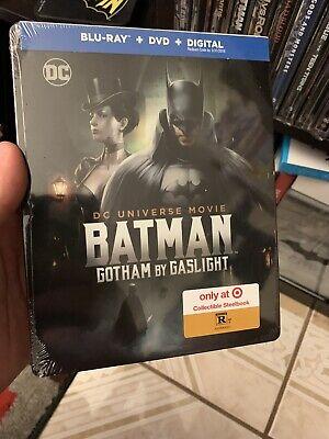 Rare BATMAN: GOTHAM BY GASLIGHT BLU RAY DVD TARGET EXCLUSIVE STEELBOOK