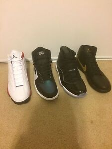 Jordan 1, 11 and 13's in size 11 & 7Y