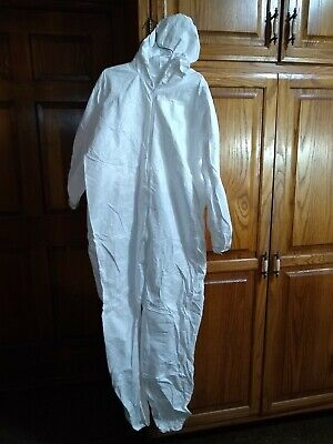 Painters Coverall White Welastic Wrist Ankle Hood 01428 Lakeland Size S