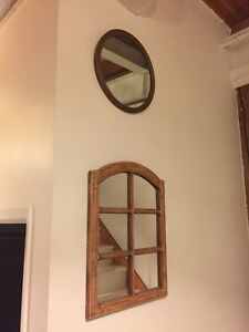 VARIOUS ANTIQUE & VINTAGE MIRRORS SIZE SMALL - MEDIUM WOOD