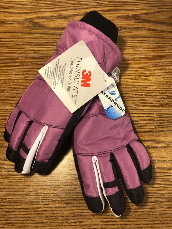 3M Thinsulate Waterproof Girls Size 7-16 Winter Snow Ski Sport Gloves BRAND NEW
