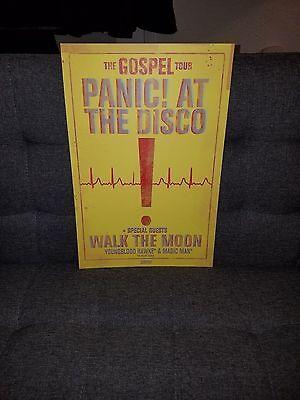 Panic! At the Disco The Gospel tour poster walk the moon Panic concert tour
