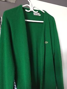 Vintage Large Mens Lacoste Cardigan  (Green) Cambridge Kitchener Area image 1
