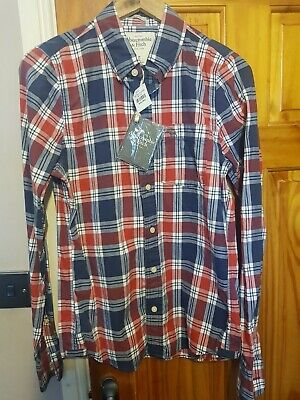 Abercrombie And Fitch Mens Plaid Shirt - Size S - Blue, White...