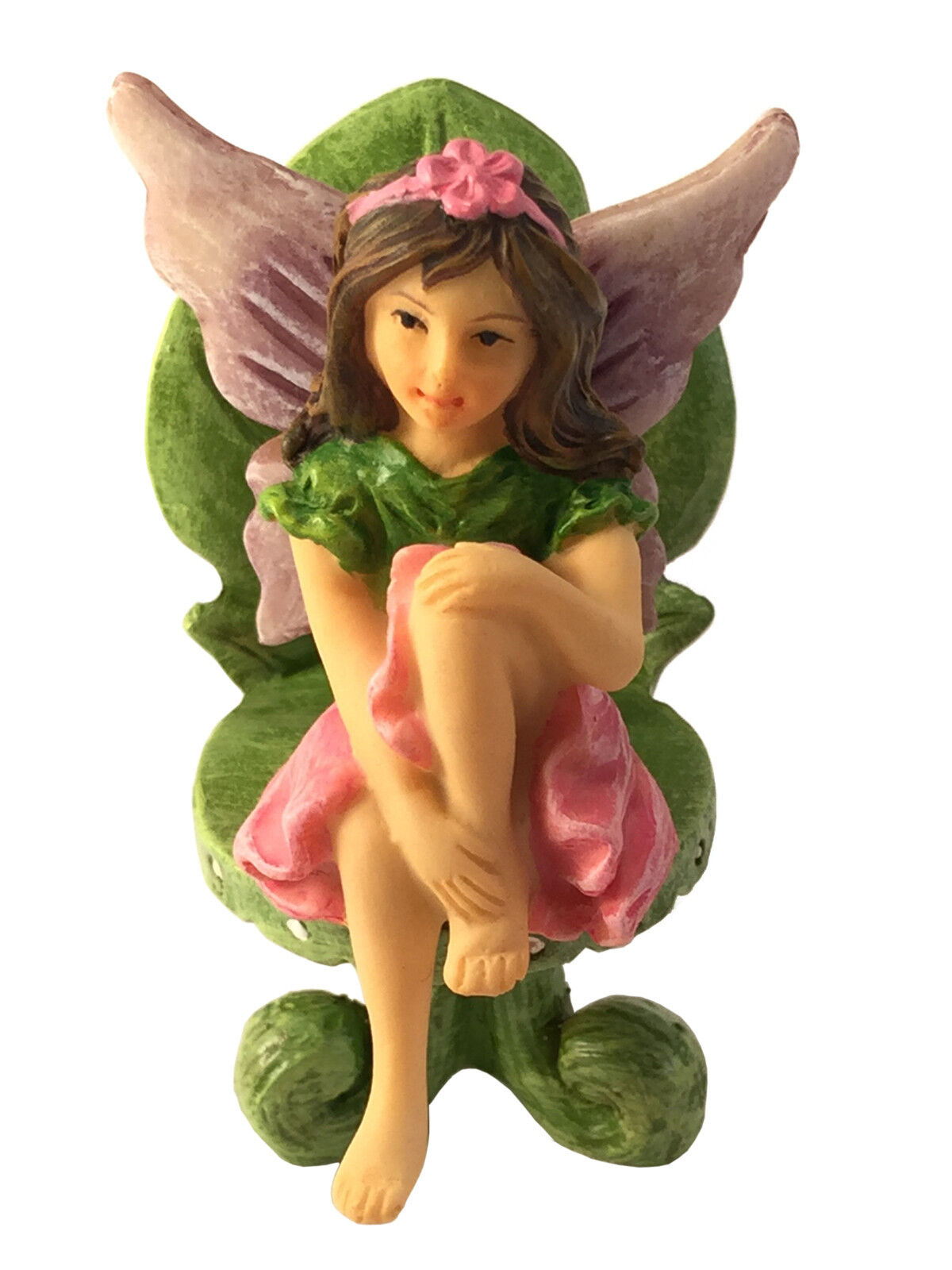 Emma the sitting garden fairy a miniature fairy statue Small garden fairies