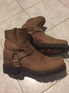 Leather motorcycle boots. Would suit Harley Davidson Watsonia Banyule Area Preview