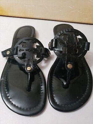 M-982-Tory Burch 'Miller' Flip Flop Patent Leather (Women) Sz 6.5 M