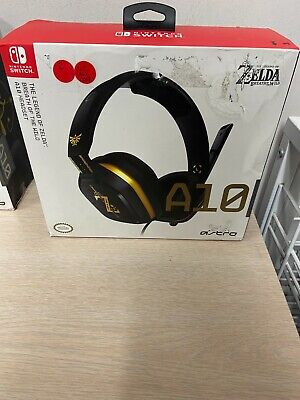 New ASTRO Gaming A10 Wired 3.5mm Gaming Headset Zelda Nintendo Switch Black