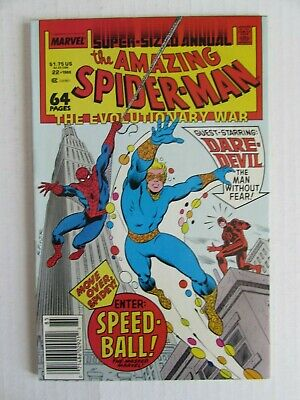Amazing Spiderman Annual #22 (1988) 1st Appearance Speed-Ball VF 8.0 EC221