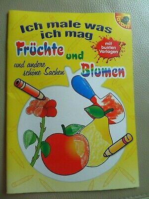 FRÜCHTE und BLUMEN und andere Sachen KINDER MALBUCH spielen (Malbuch Blumen)