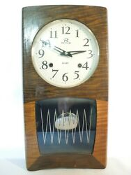 Vintage Rhythm 30 Day Wall Clock Wood w/ Pendulun & Chimes Made in Japan