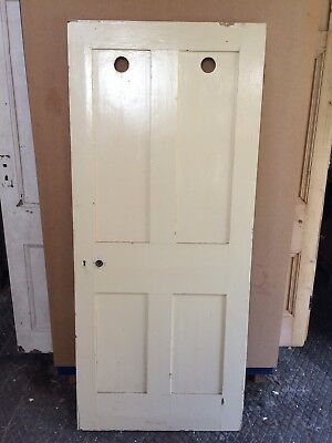 Reclaimed  Antique  Victorian 4 Panelled Door 73 1/2