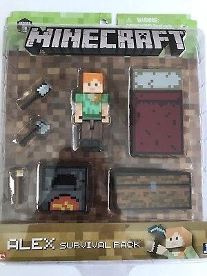 Minecraft Alex Survival Pack Brand New In Box  Series 3