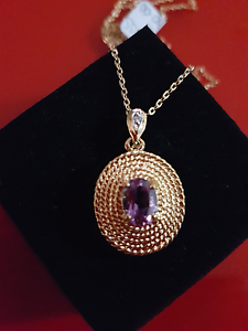 Amethyst Necklace and pendent Newcastle Newcastle Area Preview