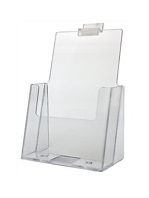 Clear Acrylic Slatwall Brochure Holder For 5.5 W Literature