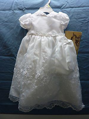 Lauren Madison baby girl Christening Baptism Newborn Embroidered Gown # 1944