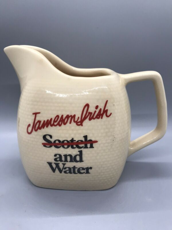 Vintage Jameson Irish Scotch and Water Pitcher
