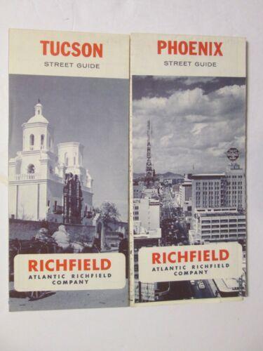 2 Atlantic Richfield Maps - Phoenix 1967 and Tucson 1967